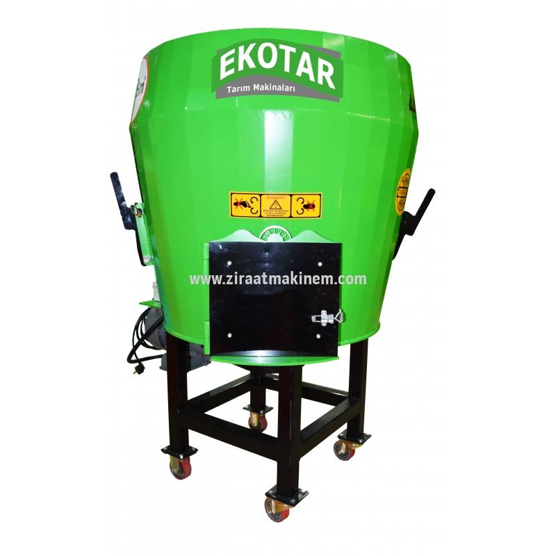 Eko-tar - Feed Mixer Machine 0,75 m³ , 220 Volt Electric -
